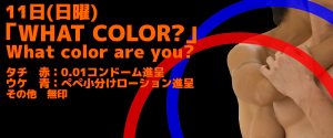 「WHAT COLOR?」